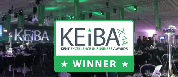 Sleeping Giant Media winner KEiBA 2014 Customer Service and Commitment Award