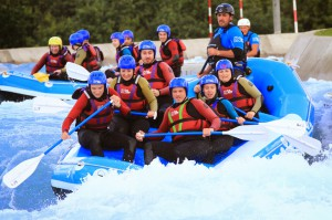 White Water Rafitng at Lee Valley