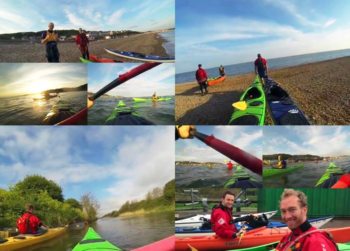 Challenge SGM training for the Kent coast kayaking challenge in aid of Combat Stress.