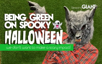 Going Green On Halloween: Giant Style