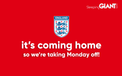It's coming home, so we're staying home… for Monday morning at least!