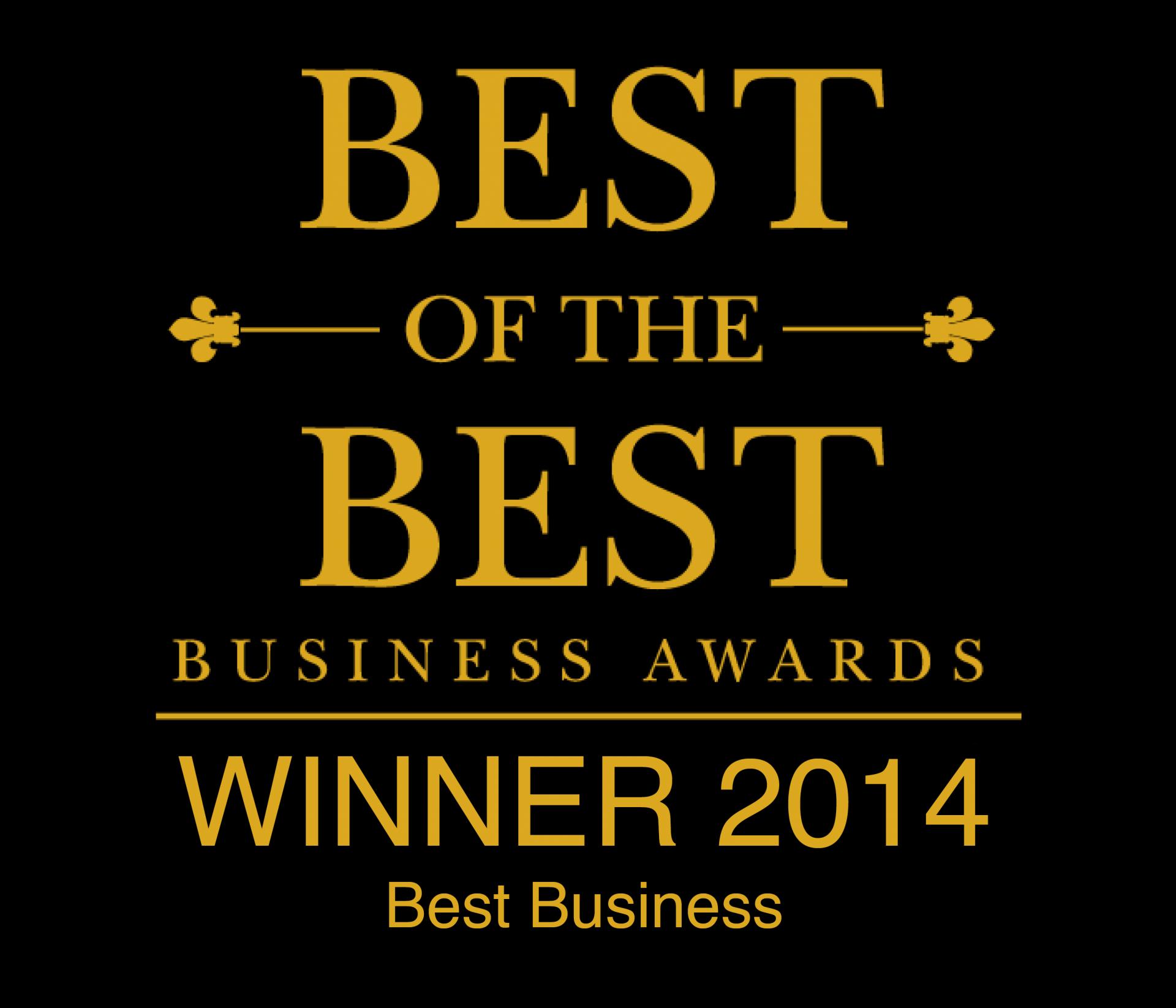 Best of the Best Business Awards Winner 2014
