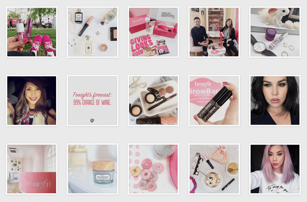 Benefit Cosmetics UK Instagram
