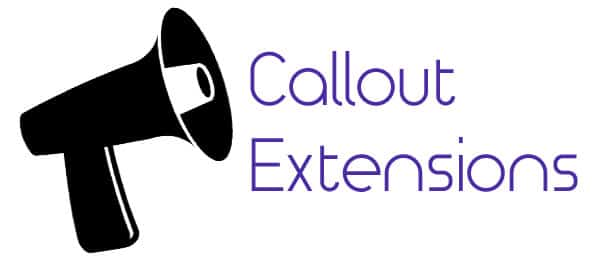 Callout extensions are here!