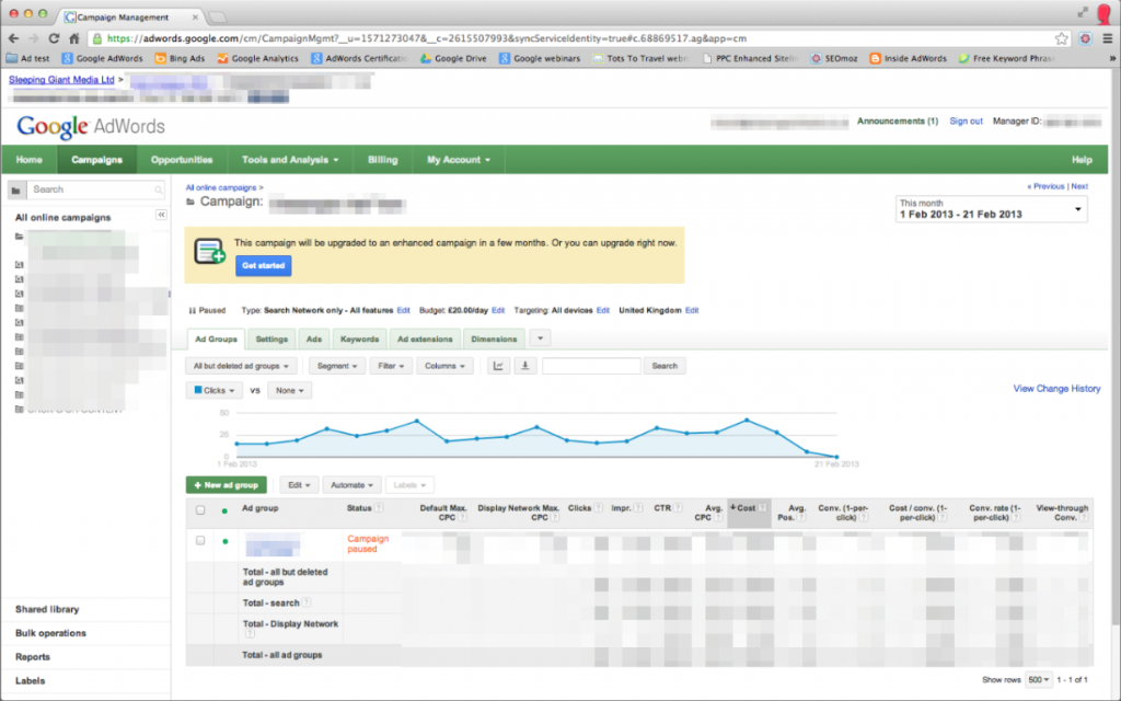 Step-by-Step Guide – Upgrade to AdWords Enhanced Campaigns