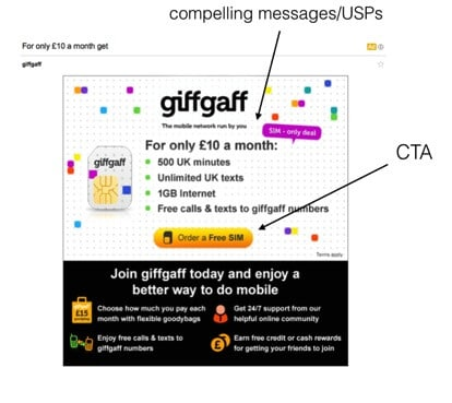 Giffgaff GSP example