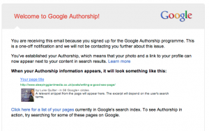 Google Authorship email