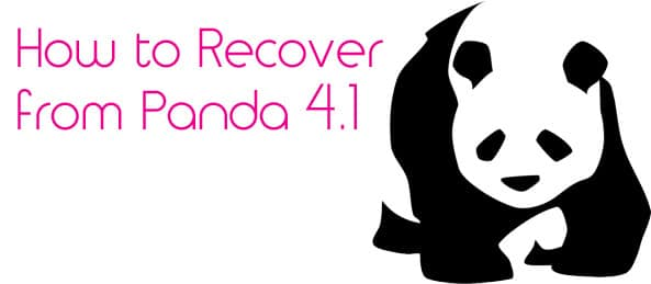 Video blog how to recover from Panda 4.1 - Sleeping Giant Media