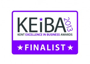 KEiBA 2013 Kent Excellence in Business Awards Finalist badge