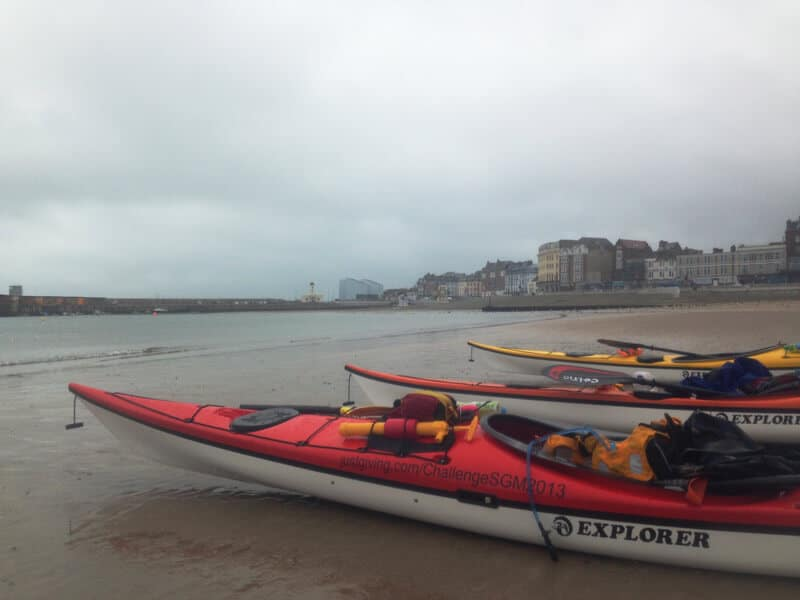 Kayaks on Margate beach