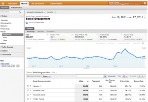 Google Analytics Social Engagement section