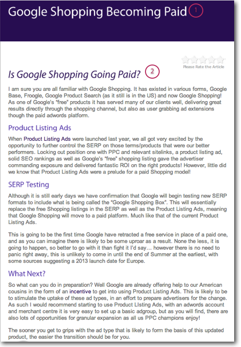Google Shopping Paid Listings