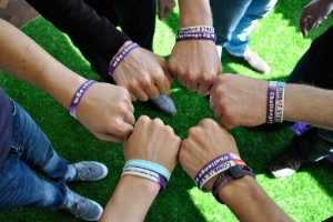 Challenge SGM team sporting charity wristbands