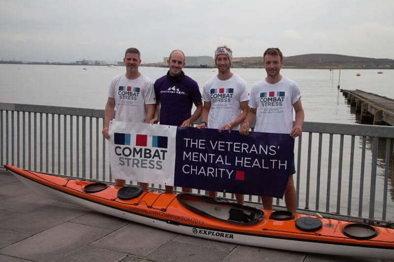 Sleeping Giant Media team after completing their 5 day 150 mile kayak around the Kent coast for Combat Stress