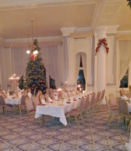 The Grand Folkestone Dining Room at Christmas