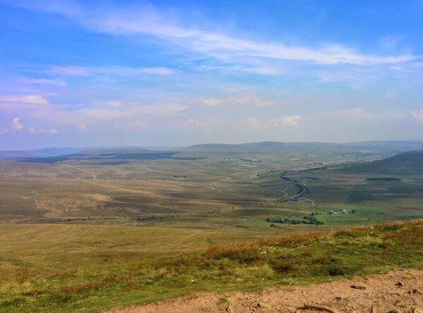 The view from the top of Whernside
