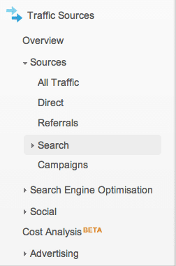 How to see keywords used for organic search traffic in Google Analytics