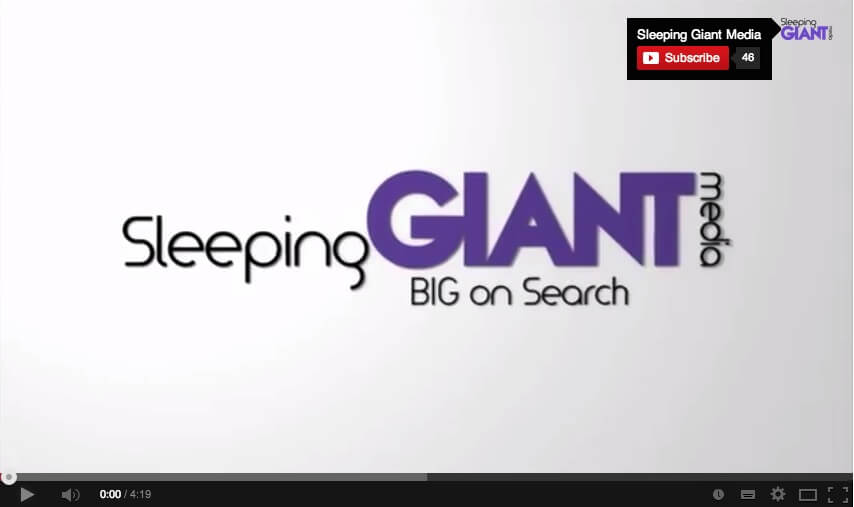 Screenshot from Sleeping Giant Media video on YouTube showing a watermark