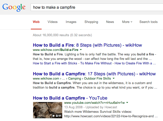 YouTube video in SERP screenshot. Which would you click on?