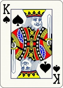 King of spades card to illustrate that content is king
